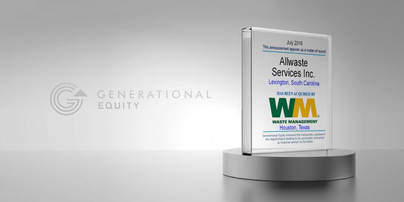 Allwaste Services in Sale to Waste Management Inc