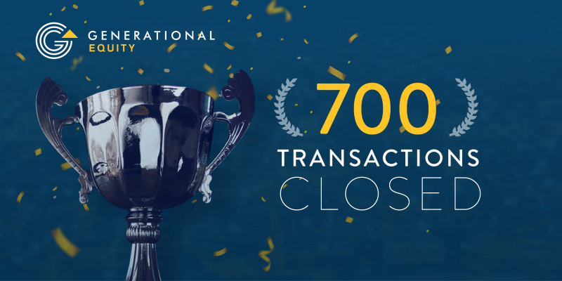 Generational Equity 700 Transactions