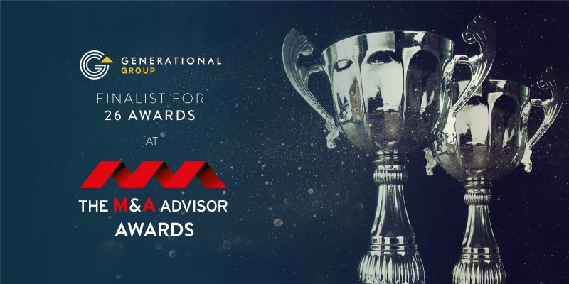Generational Group 2019 M&A Advisor Awards