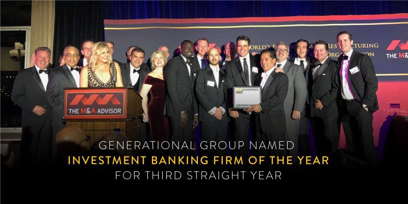 Generational Group Investment Banking Firm of the Year