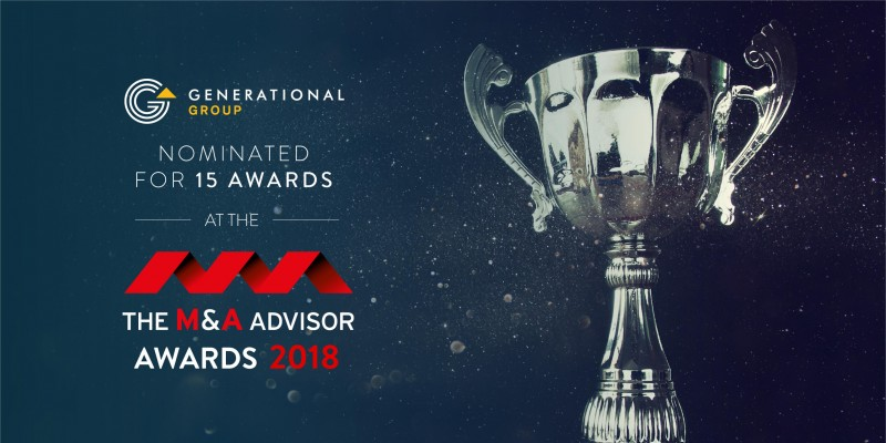 M&A Advisor Awards Nominations 2018