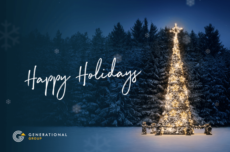 Happy Holidays Generational Equity