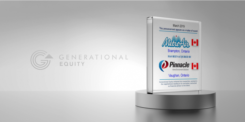 Metro Air Sale to Pinnacle Home Environment Solutions