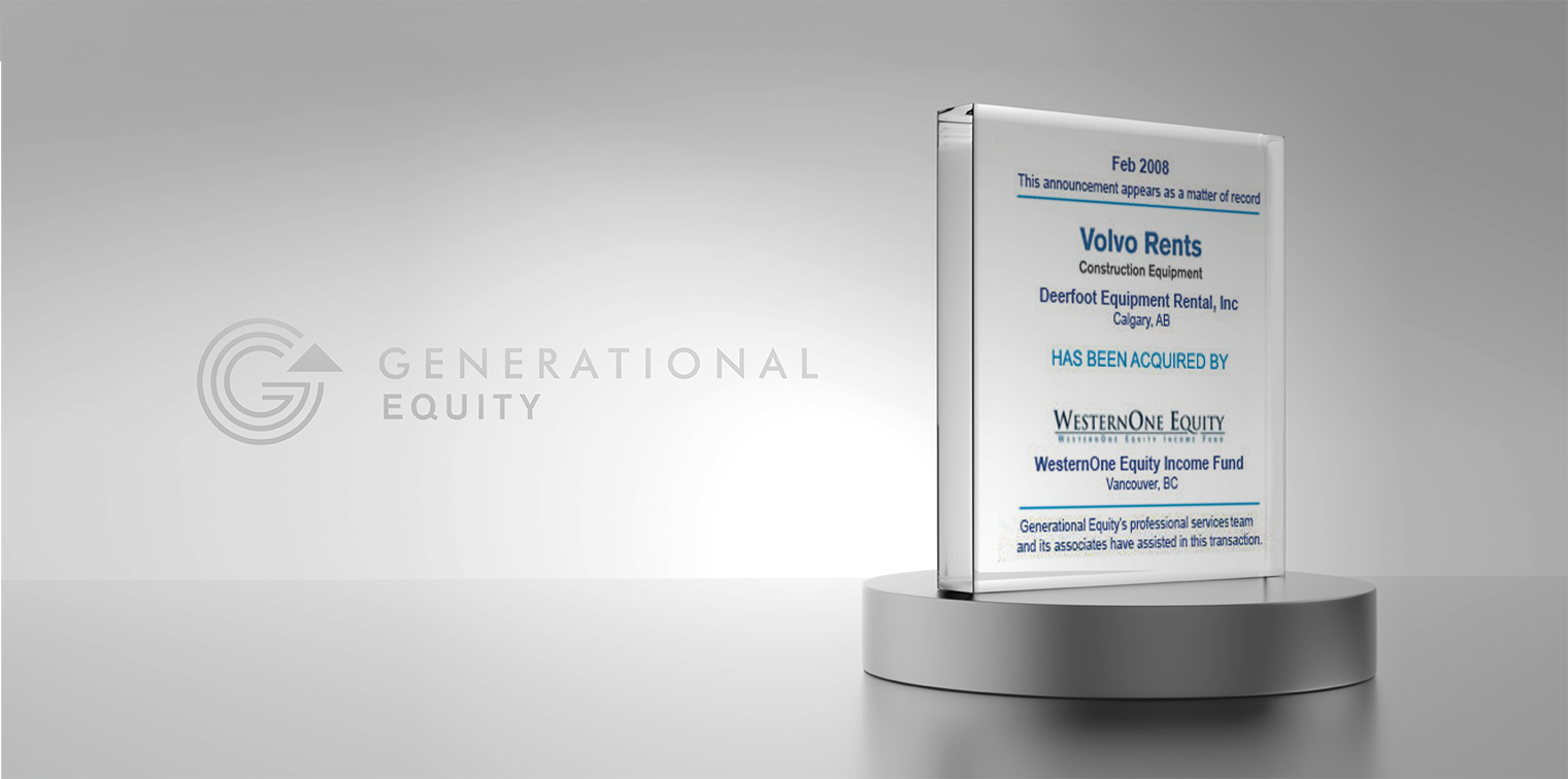 Volvo Rents has been acquired by WesternOne Equity